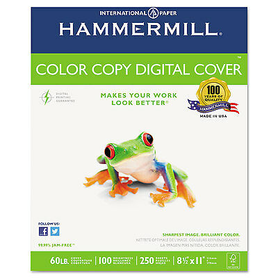 Hammermill Copier Digital Cover Stock 60 Lbs. 8 12 X 11 Photo White 250 Sheets