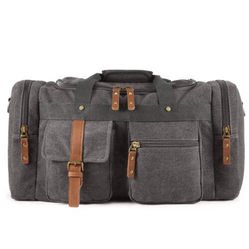 Men Plambag Large Canvas Duffel Bag Overnight Travel Tote We