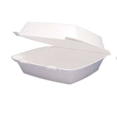 Dart 1 Section Take Out Containers 200 pk Large Foam Hinged To Go Styrofoam