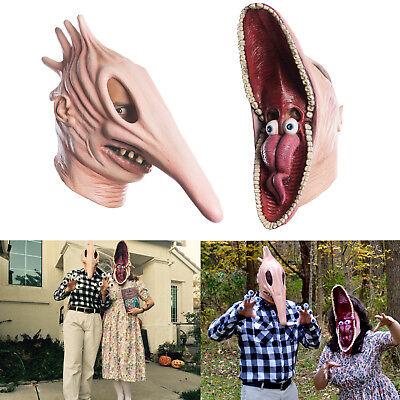 Beetlejuice Costumes Couple (Adult Beetlejuice Barbara and Adam Monster Mask Couple Halloween Freaky)