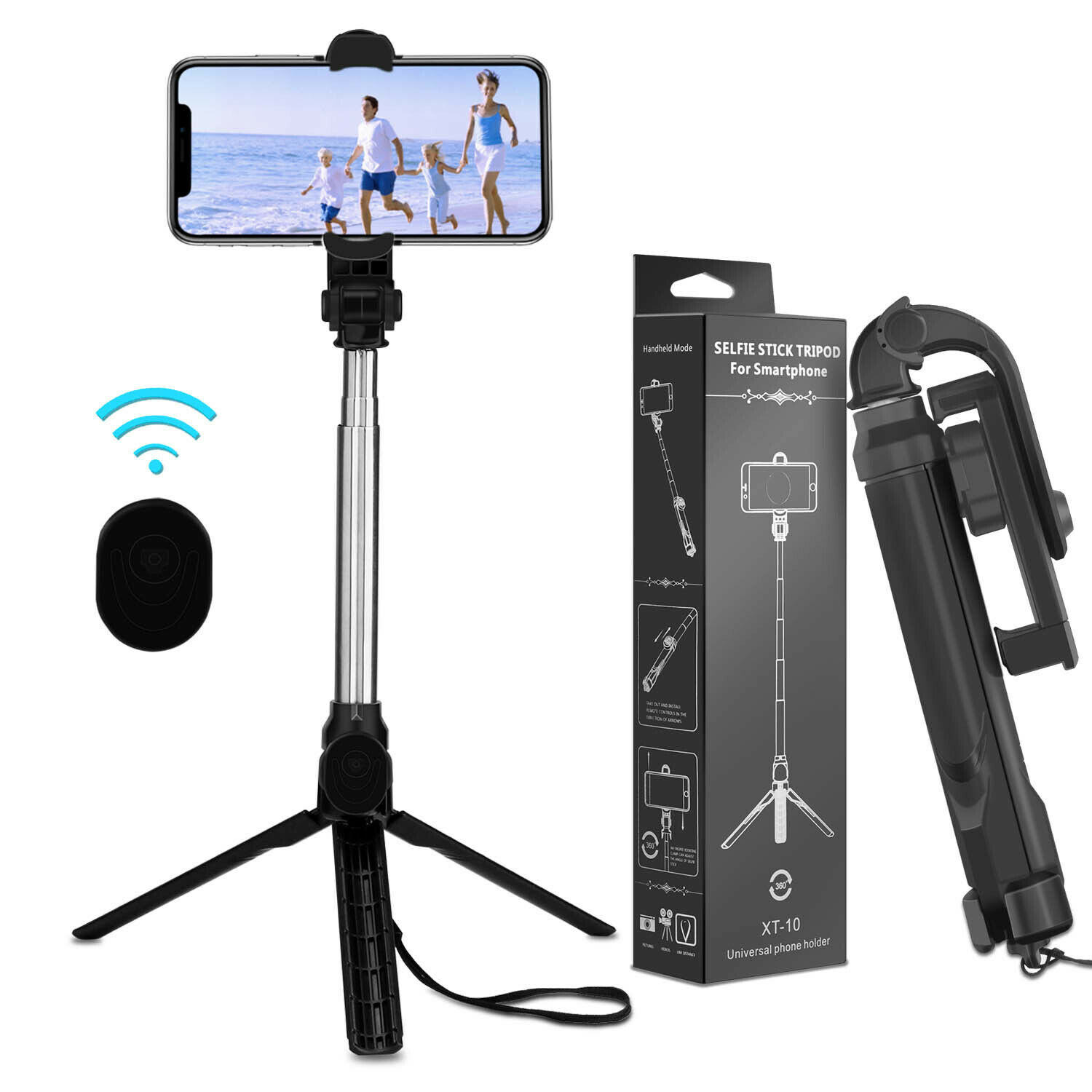 For iPhone 11 Pro Max/XR/XS/8/7/6 Selfie Stick Extendable Wi