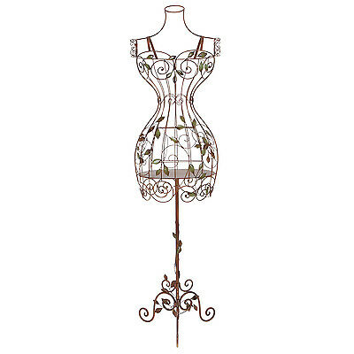 $123.95 - Metal Dress Form Mannequin Female Wire Stand Display Vintage Body Clothing Decor