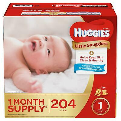 Huggies Little Snugglers Diapers, Size 1, 204 Ct