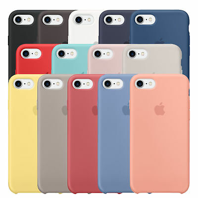 For APPLE SILICONE Case iPhone X XR XS MAX SE 5s 6s 8 7 & Plus Liquid Rubber