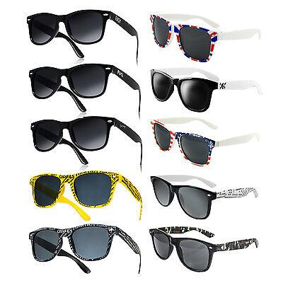 Sonnenbrille 80er Nerd Style Wayfarer Brille Retro Atzenbrille Farbwahl