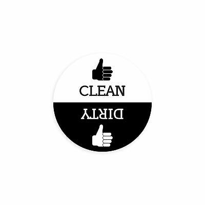 Clean Dirty Round Dishwasher Magnet with Thumbs Up / Thumbs Down- Regular Design (Thumbs Up Thumbs Down)