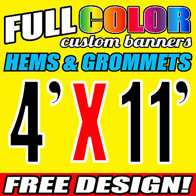 4 X 11 Ft Full-color Custom Banner 16 Oz Vinyl Pvc Flex Material