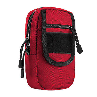NcStar VISM RED Large Utility Cell Phone GPS EMT First Aid MOLLE PALS Pouch