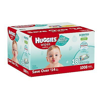 Huggies One & Done Refreshing Baby Wipes, Scented, 1,008 COUNT