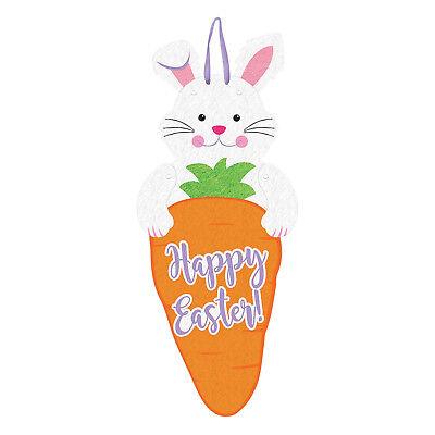 Happy Easter Bunny und Carrot Verbundene Filz Sign 60cm Ostern Party Dekoration