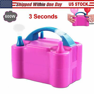 Electric Balloon Inflator Air Pump Blower 2 Nozzle Inflator Blow Up Compressors ()