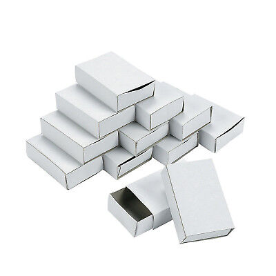 SET 50 PLAIN WHITE EMPTY MATCHBOXES WITH DRAWER FOR CRAFT FAVOURS ADVENT 7080