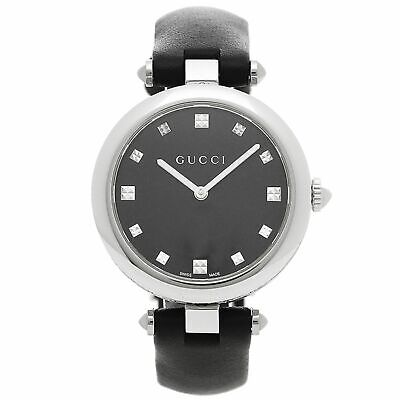 Gucci YA141403 Women's Diamantissima Black Quartz Watch