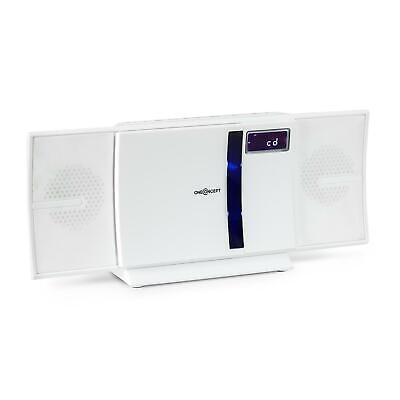 Vertikal Hifi Anlage Stereoanlage Bluetooth UKW Radiotuner CD Player USB Weiß