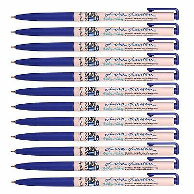 Xeno Baby Mikey 0.38 Mm Slim Ball Point Pen Box of 12 (Blue) + Tracking number