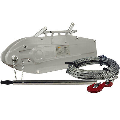 Prowinch 11880 Lbs. Lever Cable Wire Rope Puller Hoist 65 Ft. Wire Rope