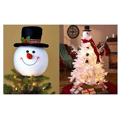 Frosty Snowman Top Hat Christmas Tree Topper Decor Holiday Winter Wonderland ... - Top Hat Tree Topper