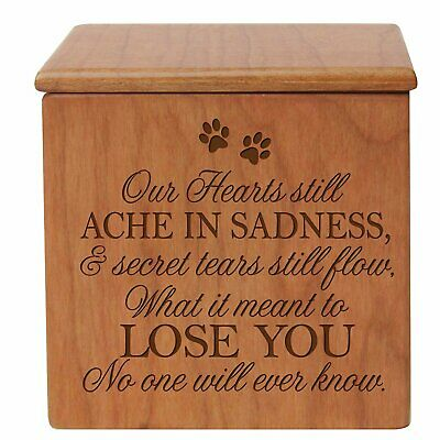 Cremation Urn For Pet Ashes Small Wooden Dog Cat  Memorial Keepsake Box  Small Memorial Urn