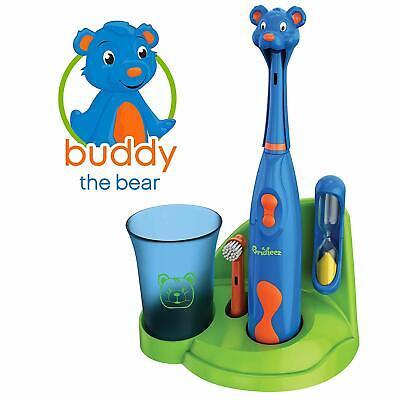 Brusheez Kids Electric Battery Powered Toothbrush Set - Buddy the Bear