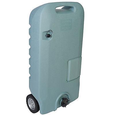 Portable Waste Water Tank 32Gal RV Travel Trailer Motor Camping Sewer Storage