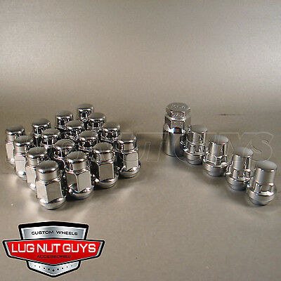 Lug Nuts & Locking Lugs - Bulge Acorn 12x1.5 Chrome - Install Kit For 6 Lug