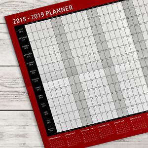 2018-2019 A2 Academic Wall Planner Calendar ~ Mid Year (G43)