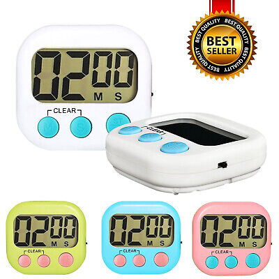 Digital Kitchen Timer Magnetic Cooking LCD Large Count Down Up Clear Loud Alarm