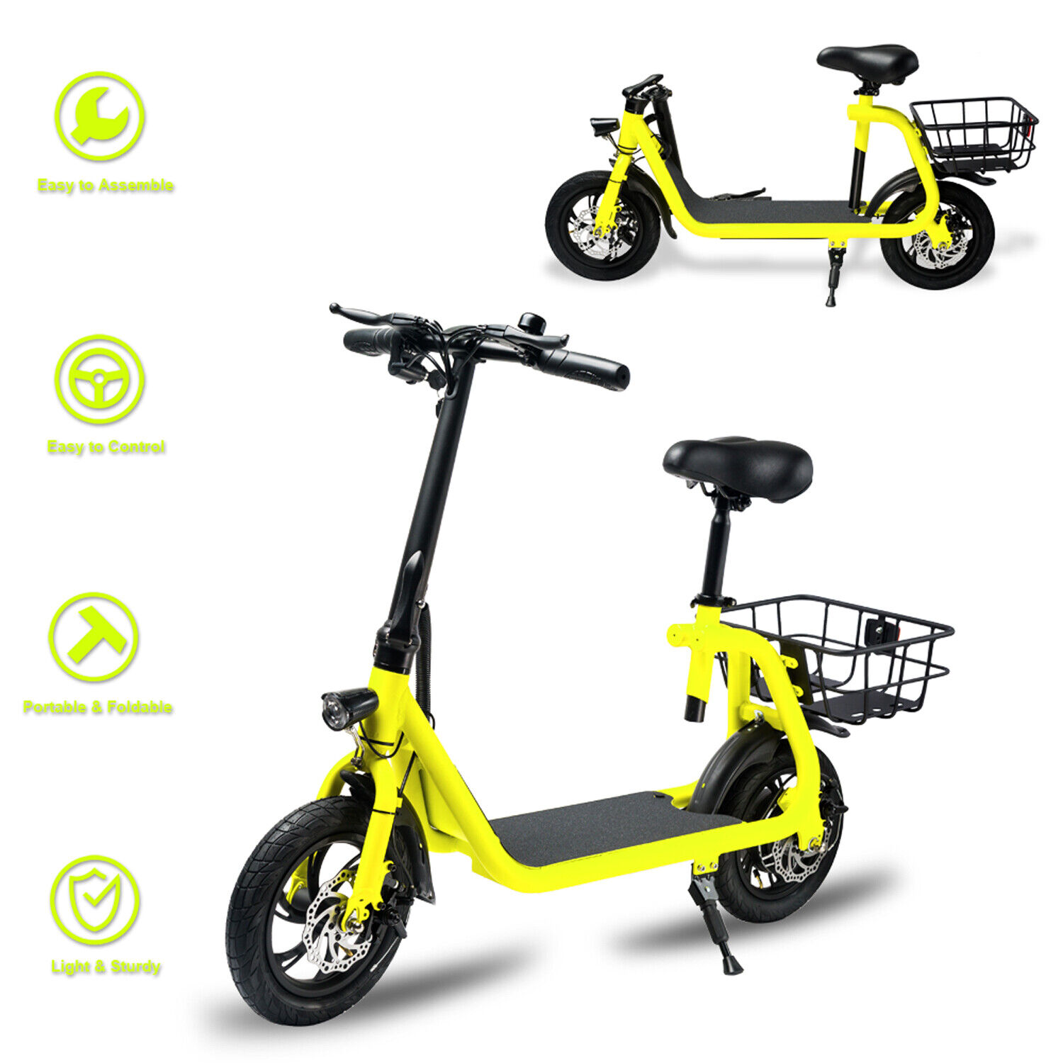 Electric Bike Portable Bicycle 350W Motor Lithium Battery EBike Outdoors (New - 9399 USD)