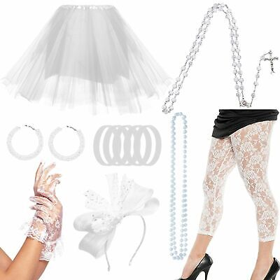 Madonna Outfits 1980s (1980s Pop Diva Costume Accessories for Women Madonna Party Outfit Fancy)