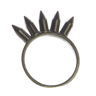 JOOMI LIM Love Thorn Hematite Ring with 5 Spikes NEW