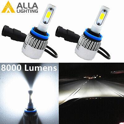 Alla Lighting LED Best Seller 6000K Pure White H8 Driving Fog Light Bulb