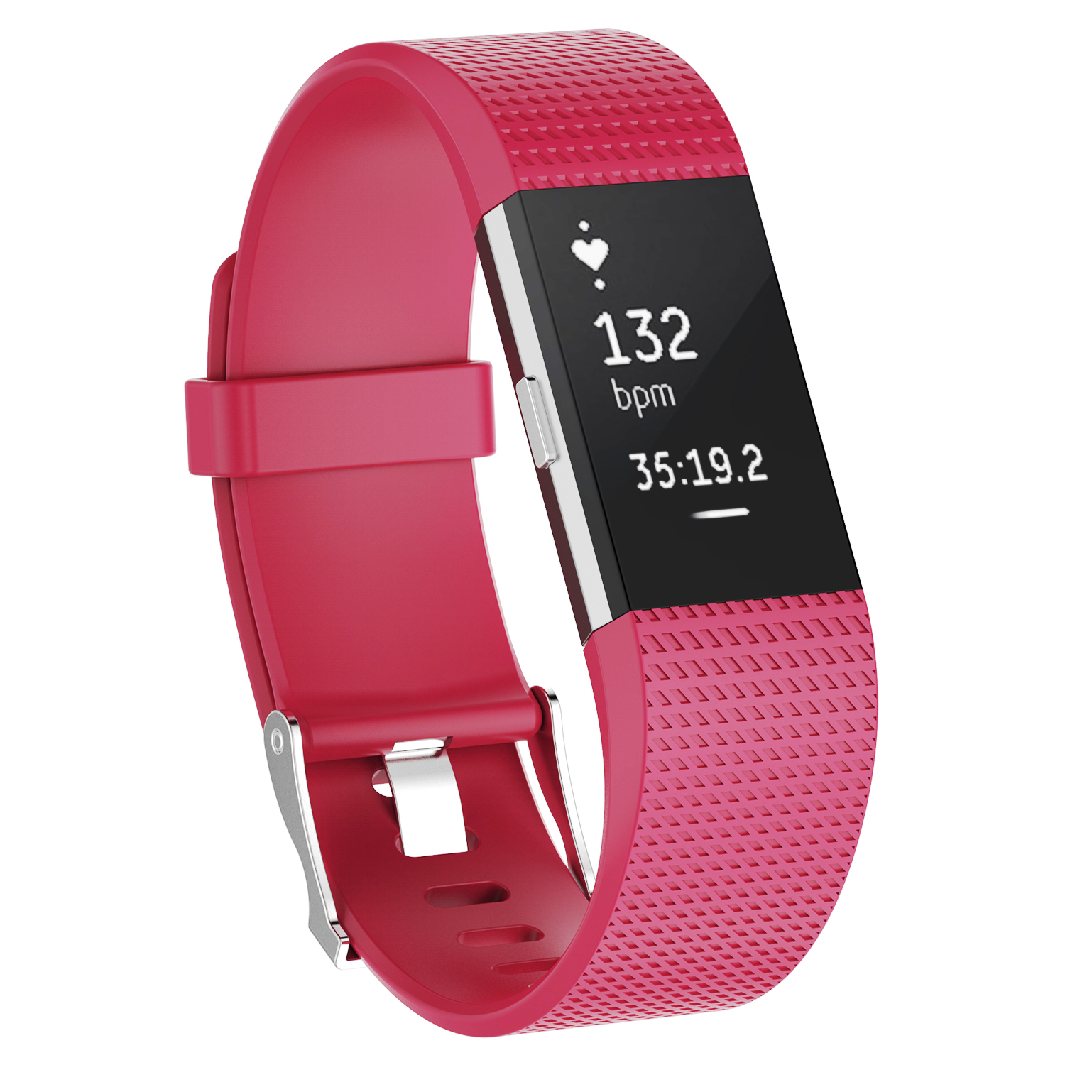 For Fitbit Charge 2 /  2 HR Replacement Silicone Bracelet Watch Band Hot Pink