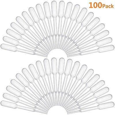 Wholesale 100x 0.2ml White Plastic Mini Transfer Pipettes Disposable Eye Dropper