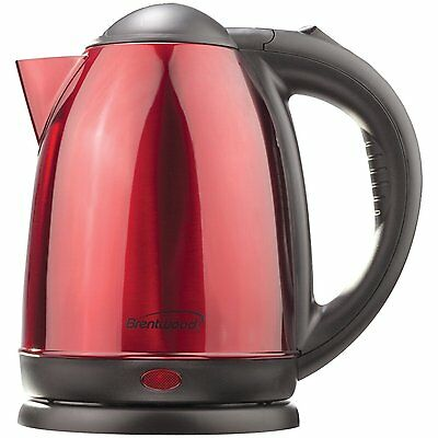 Brentwood 1.7 Liter Stainless Steel, Electric Cordless Tea Kettle In Red KT-1795