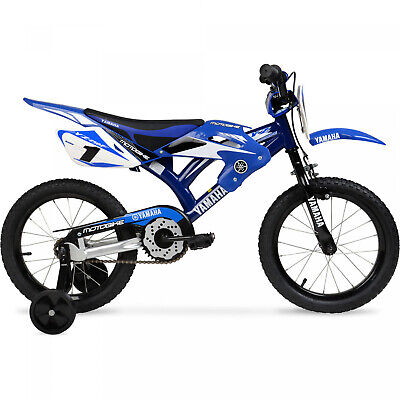 16 BMX Moto Yamaha Boys Bike Blue Steel Frame Kids Bicycle Motocross Style (Bmx Styles)