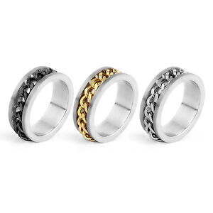 Mens Gold Spinner Rings Uk