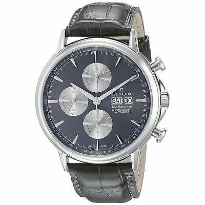 Edox 011203GIN Men's Les Bemonts Silver-Tone Automatic Watch