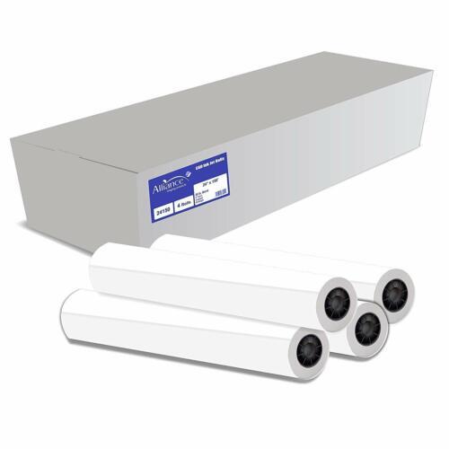Alliance CAD Paper Rolls 24x150, 92 Bright, 20lb. 4 Rls/Ctn - Ink Jet Bond Rolls