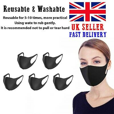 Face Mask - Face, Mouth | Nose Protection Mask Reusable | Washable | 5 PCS OFFER