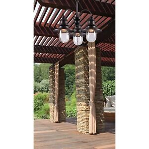 Outdoor Chandelier Lighting Indoor Hanging Lights Plug In Patio Gazebo Rustic  sc 1 st  eBay & Outdoor Chandelier | eBay