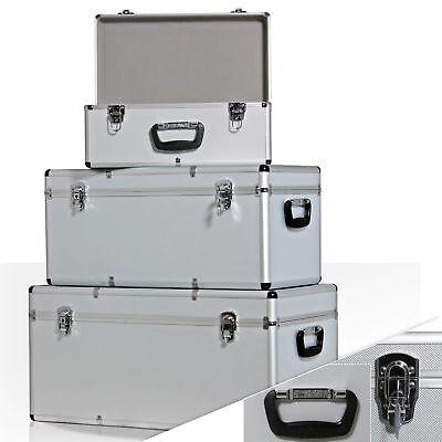 RETOURE 3er SET Alu Boxen Alubox Alukiste Transportbox Werkzeugkiste Silber