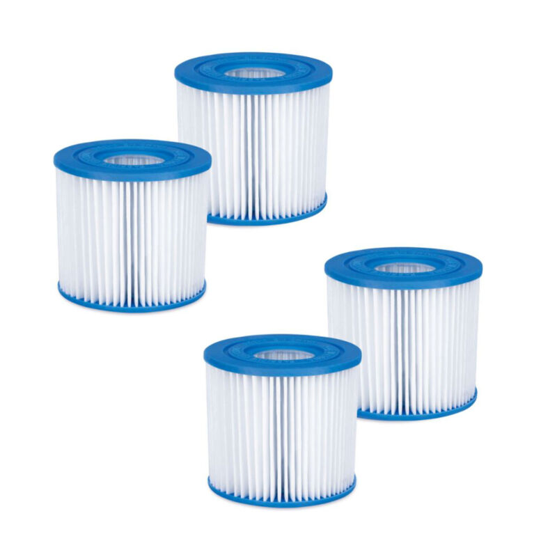 Summer Waves P57000102 Replacement Type D Pool and Spa Filter Cartridge (4 Pack)