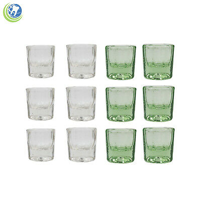 Glass Dappen Dish Assorted Acrylic Holder Container Dental Cosmetology 12pc
