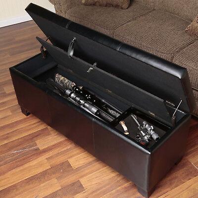 Gun Cabinet Furniture (Gun Storage Concealment Bench Furniture Safe Ottoman Cabinet Chest Firearm)