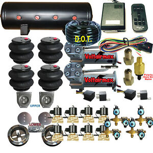C10 Air Ride Suspension Kit Chevy 1963-72 3/8 Valves 14-Function Remote