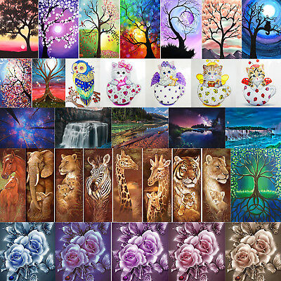 Full Drill 5D Diamond Painting Crafts Stitch Home Decor DIY Xmas Halloween Gift ()