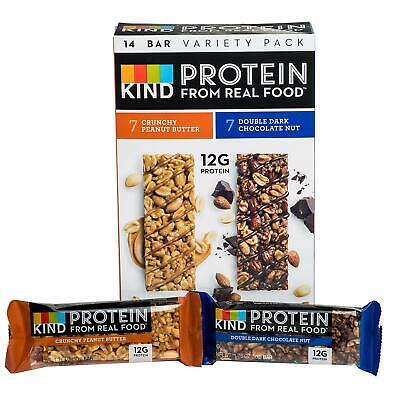 KIND Protein Bar Crunchy Peanut Butter bars and Double Dark Chocolate Nut bars