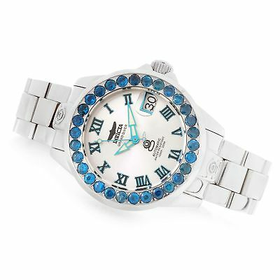 Invicta Grand Diver Automatic 3.48ctw Neon Apatite 38mm Stainless Steel Watch