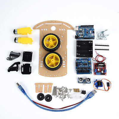 Smart Robot Car Chassis Kit Battery Box Wheels For 2wd Ultrasonic Arduino Mcu