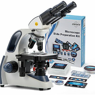 SWIFT 40x-2500x Durchlicht Tierarzt Klinisches Binokular Mikroskop Mit 66 ACCES